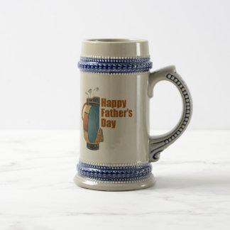 El día de padre feliz jarra de cerveza