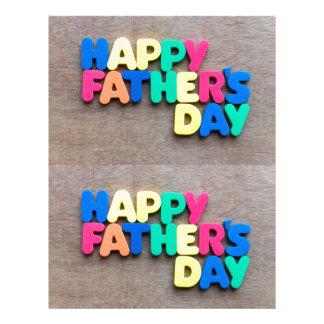 El día de padre feliz membrete