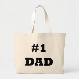El día de padre feliz - numere a 1 papá - papá #1 bolsa tela grande