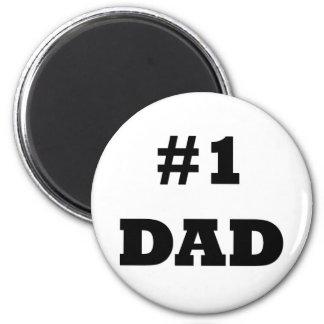 El día de padre feliz - numere a 1 papá - papá #1 iman para frigorífico