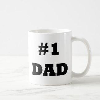 El día de padre feliz - numere a 1 papá - papá #1 taza clásica