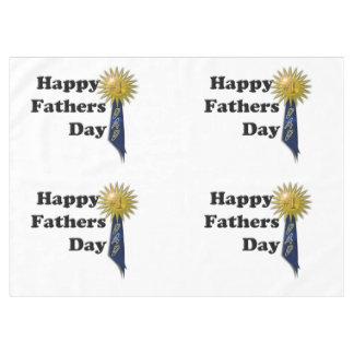 El día de padre feliz - papá #1 mantel