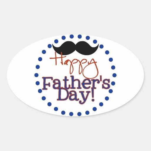 el día de padre feliz pegatina ovalada