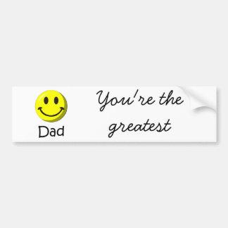 ¡El día de padre feliz! Pegatina Para Auto