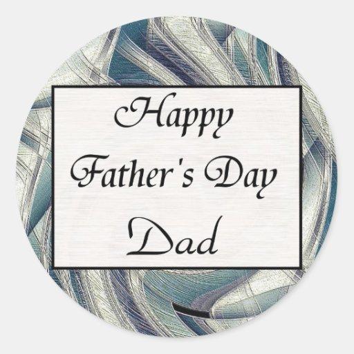 El día de padre feliz pegatina redonda