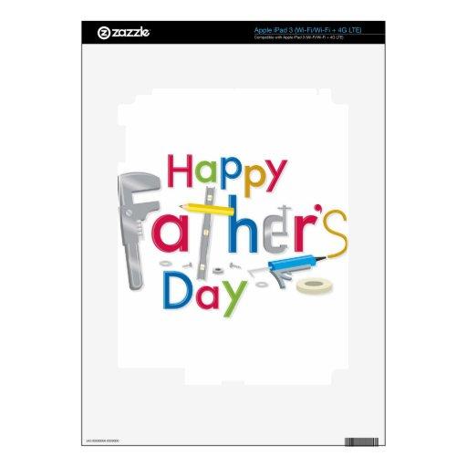 el día de padre feliz pegatina skin para iPad 3