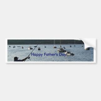 El día de padre feliz, pescador pegatina para auto