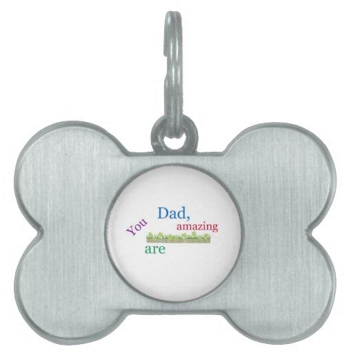 El día de padre feliz placa mascota