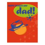 El día de padre feliz postal