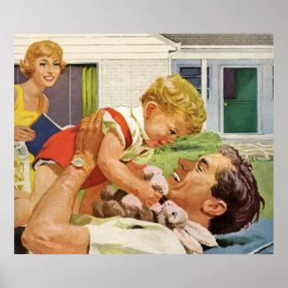 El día de padre feliz póster