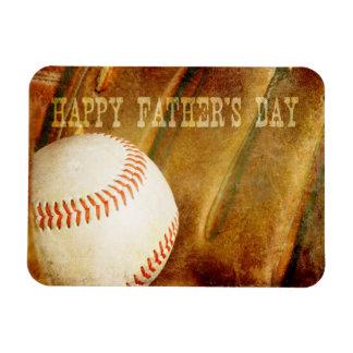 El día de padre feliz se descoloró béisbol imán