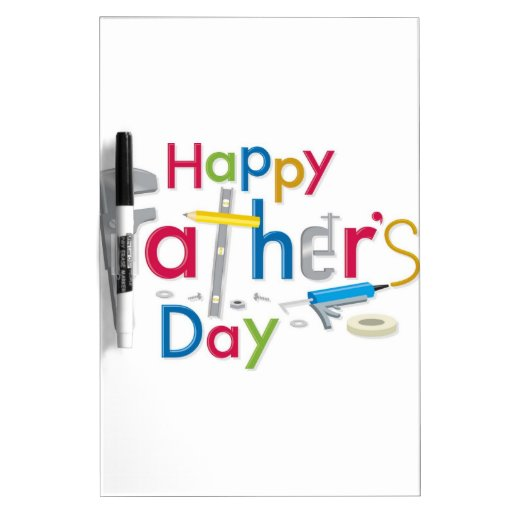 el día de padre feliz tablero blanco