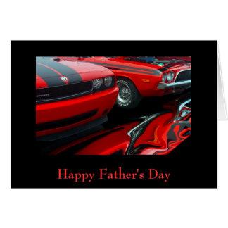 El día de padre feliz tarjeta