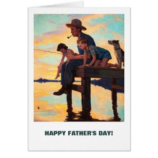 El día de padre feliz. Tarjetas adaptables
