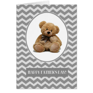 El día de padre feliz. Tarjetas del diseño del oso