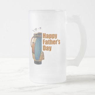 El día de padre feliz taza de cristal