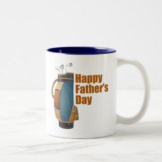 El día de padre feliz taza de dos tonos