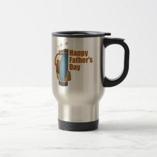 El día de padre feliz taza de viaje