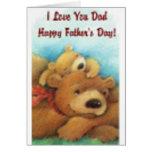 El día de padre feliz te amo tarjeta