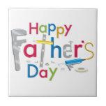 el día de padre feliz teja cerámica