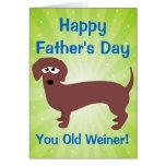 El día de padre feliz, viejo Weiner Tarjetón