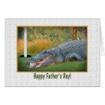 El día de padre, golf, cocodrilo tarjeta de felicitación