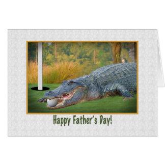 El día de padre, golf, cocodrilo felicitaciones