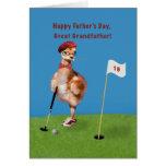 El día de padre, grande - abuelo, pájaro que juega tarjeta de felicitación
