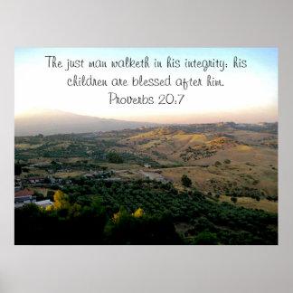 El día de padre Italia y escritura Póster