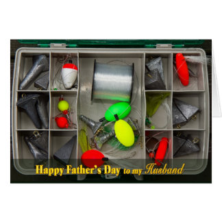 El día de padre - marido - caja de aparejos de pes tarjeta de felicitación