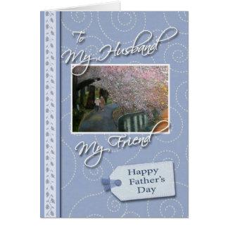El día de padre - mi marido, amigo tarjeta de felicitación