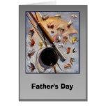 El día de padre - moscas de la pesca felicitacion