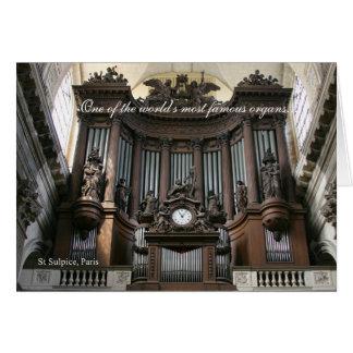 El día de padre - órgano del St Sulpice Tarjeta De Felicitación