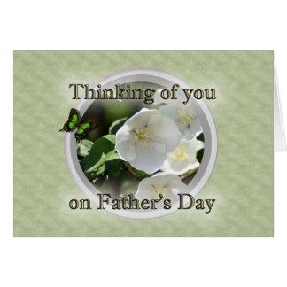 El día de padre, padre que se aflige, pérdida de tarjeta de felicitación