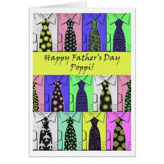 El día de padre para Poppi, el camisetas y los Tarjeta De Felicitación