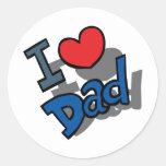 el día de padre pegatina redonda