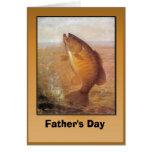 El día de padre - pescado tarjeta