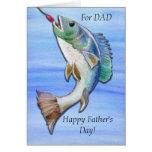 El día de padre que pesca la clase de papá felicitacion
