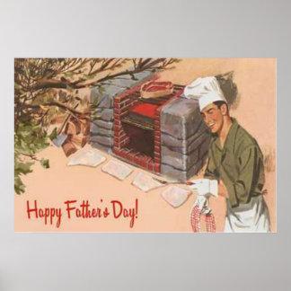 El día de padre retro del vintage del anuncio del  póster