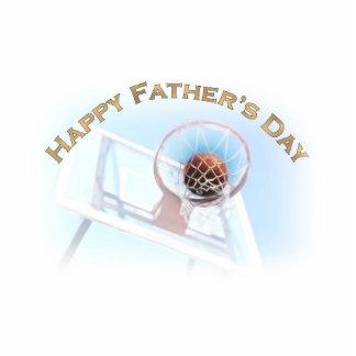 El día de padre se divierte baloncesto escultura fotográfica
