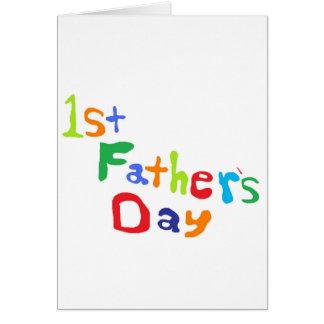 El día de padre tarjeta de felicitación