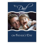 El día de padre - tarjeta de la foto