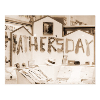 El día de padre postal
