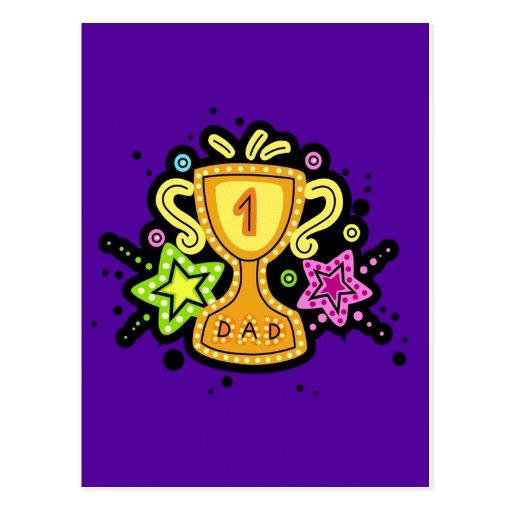 El día de padre tarjeta postal