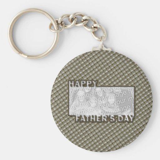 El día de padres cortado AÑADE SU insignia del hér Llavero Personalizado