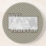 El día de padres cortado AÑADE SU insignia del hér Posavasos Personalizados