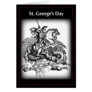 El día de San Jorge, tarjeta negra