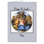 El día de San José feliz azul Felicitaciones