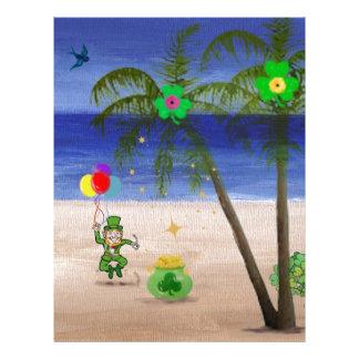 El día de San Patricio en Beach jpg Plantillas De Membrete
