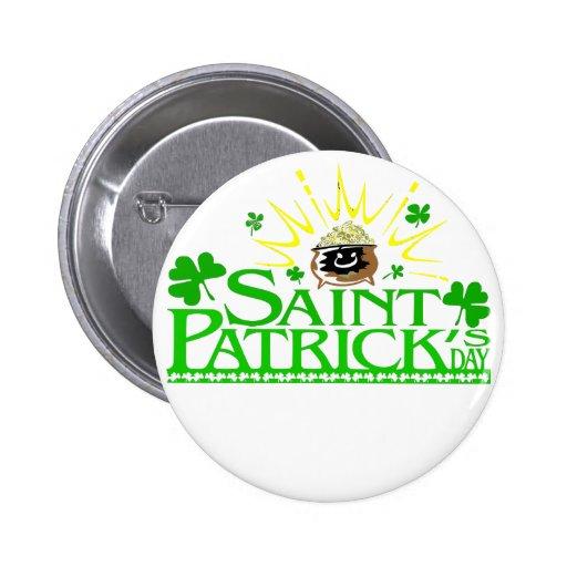El día de San Patricio Pins